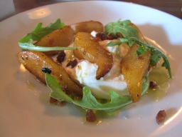 Roasted Pear And Burrata Salad With Maple Vinaigrette